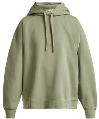 Acne Studios Yala Cotton Jersey Hooded Sweatshirt - Womens - Light Green