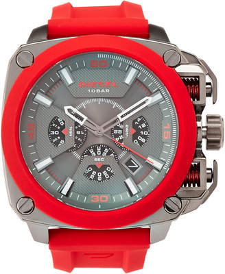 Diesel DZ7368 Red & Gunmetal Watch
