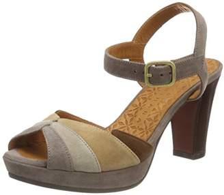 Chie Mihara Women's Edita Ankle Strap Sandals, Beige humo Sand Toast-ante castaño