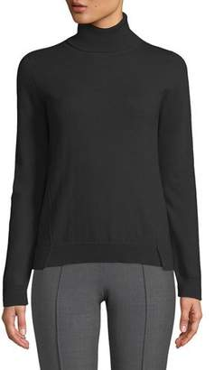 Agnona Eternals 12-GG Cashmere Geo-Slit Turtleneck Sweater