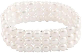 Splendid Pearls 6-7Mm Freshwater Pearl Stretch Bracelet