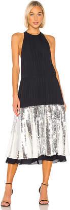 Tibi Claude Sequins Layered Halter Dress