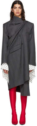 Balenciaga Grey Wool Pulled Opera Coat