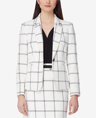 Tahari Asl Textured Windowpane Blazer $139 thestylecure.com