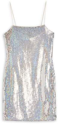 Topshop Holographic Bodycon Dress