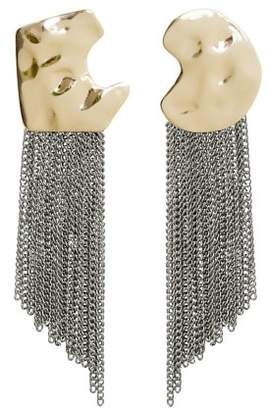 MANGO Asymmetric chain earrings