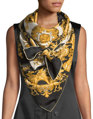 Versace Vogue Collage Silk Shawl
