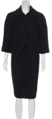 Blumarine Tweed Wool-Blend Skirt Suit