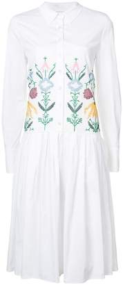 Carolina Herrera embroidered shirt dress