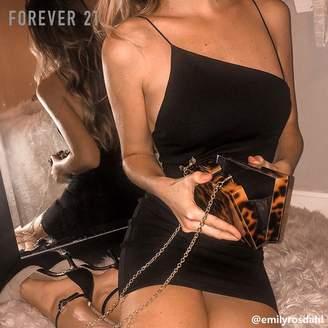 Forever 21 (フォーエバー 21) - Forever 21 アシンメトリーネックタイトワンピース