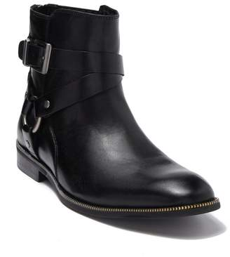 Karl Lagerfeld Paris Harness Leather Boot With Zipper Teeth