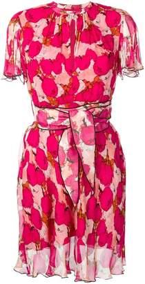 Pinko rose-print flared dress