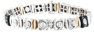 18K Diamond & Enamel Link Bracelet