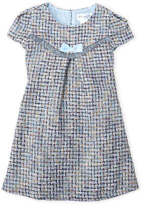 Little Angels (Girls 4-6X) Short Sleeve Tweed Shift Dress