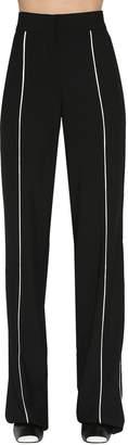 Loewe Wide Leg Pants W/ Satin Piping