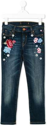 Lapin House floral embellished jeans
