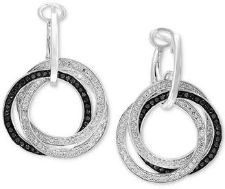 Effy Diamond Interlocking Ring Hoop Earrings (7/8 ct. t.w.) in 14k White Gold