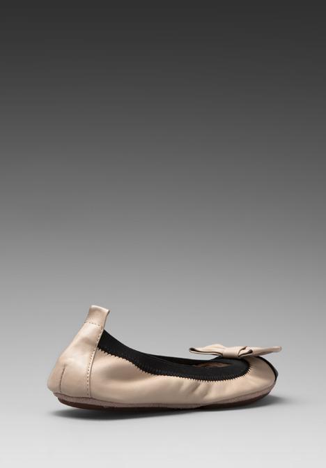 Yosi Samra Two Tone Cap Toe Ballet Flat