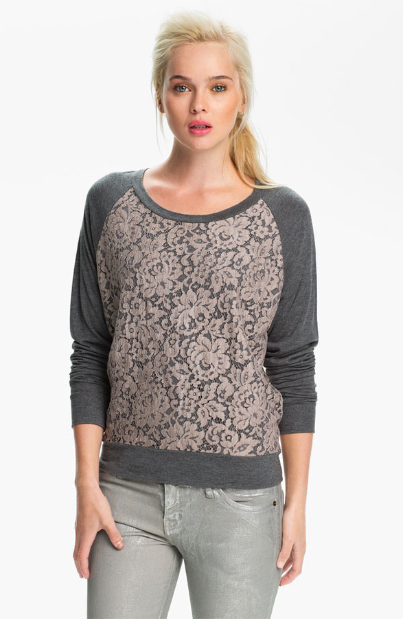 Haute Hippie Lace Sweatshirt