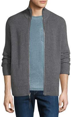 Rag & Bone Men's Andrew Rib-Knit Zip-Front Sweater