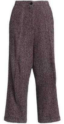 MM6 MAISON MARGIELA Herringbone Wool-Blend Wide-Leg Pants