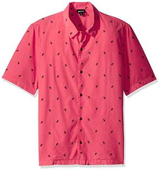 Just Cavalli Men's Palm Pink Shirt