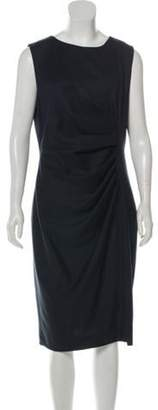 Max Mara Virgin Wool Midi Dress Navy Virgin Wool Midi Dress