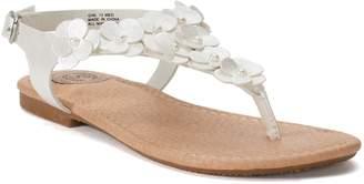 So SO Girls' Ankle Strap Flower Sandals