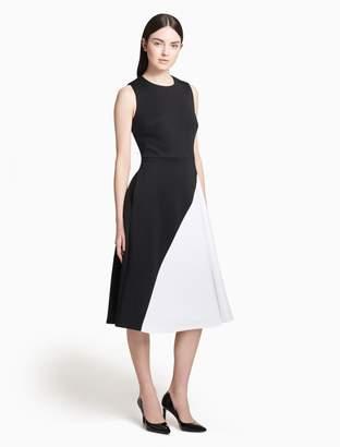 Calvin Klein colorblock fit + flare dress