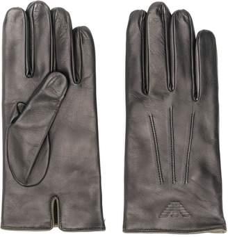 Emporio Armani logo embossed gloves