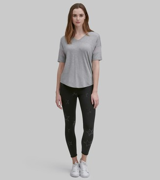 Mny Performance V-NECK ACTIVE TEE WITH MESH SLEEVES