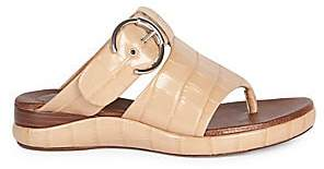 e975d3dcb Chloé Women s Croc-Embossed Leather Thong Sandals