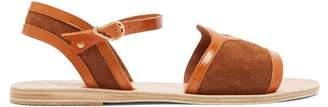 Ancient Greek Sandals Fei Crosta Suede Sandals - Womens - Dark Tan