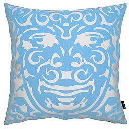notNeutral Triton Throw Pillow Blue/White