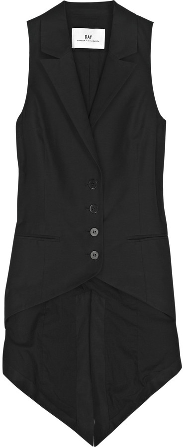 DAY Birger et Mikkelsen Tail-detail cotton-blend waistcoat