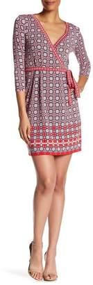 Max Studio Printed Long Sleeve Jersey Dress