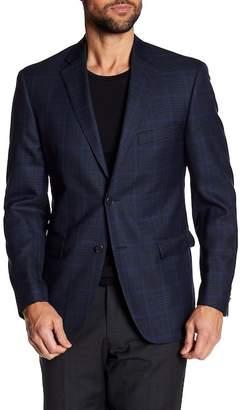 JB Britches Classic Fit Plaid Wool Sportcoat