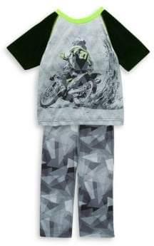 Petit Lem Little Boy's & Boy's Two-Piece Pajama Top and Pants Set