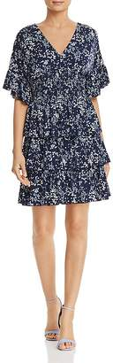 MICHAEL Michael Kors Micro-Floral Tiered Ruffle Dress - 100% Exclusive