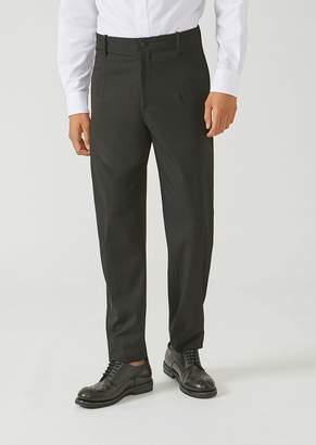 Emporio Armani Trousers In Stretch Tech Twill