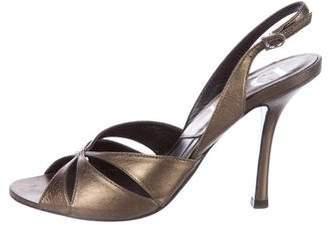 Christian Dior Metallis Slingback Sandals