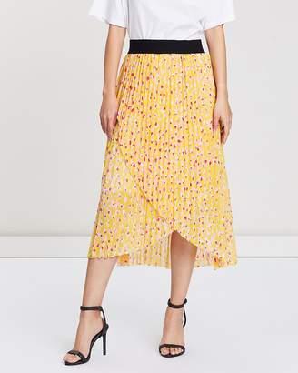 SABA Lustre Pleated Midi Skirt