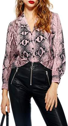 Topshop Jessica Snake Print Shirt