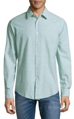 HUGO BOSS Ronni Marled Button-Front Shirt