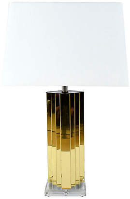 One Kings Lane Vintage Modern Brass and Lucite Table Lamp