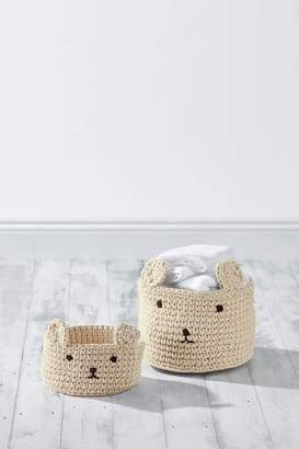 Next Set of 2 Bear Knitted Storage Cubes