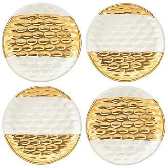 Michael Wainwright Truro Gold Canapé Plates, Set of 4