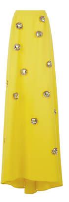 DELPOZO Embellished Crepe Maxi Skirt