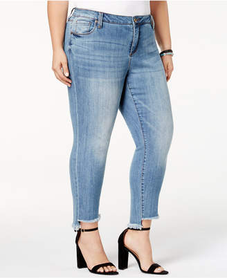 KUT from the Kloth Plus Size Reese Step-Hem Straight-Leg Ankle Jeans