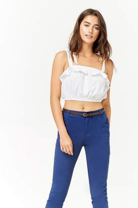 Forever 21 Belted Denim Pants